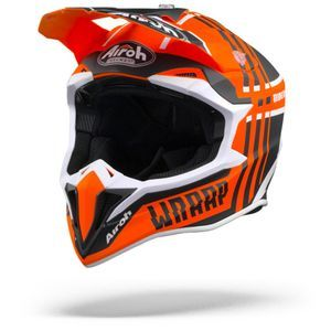 Airoh Wraap Broken Casco Integral Naranja Mate