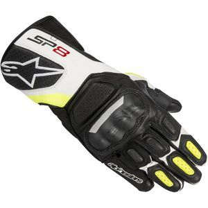 Alpinestars SP-8 V2 Black White Yellow Fluo