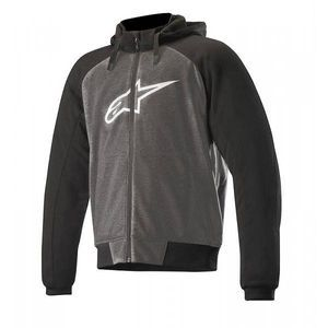 Alpinestars Chrome Sport Anthracite Sweat A Capuche Noir Blanc