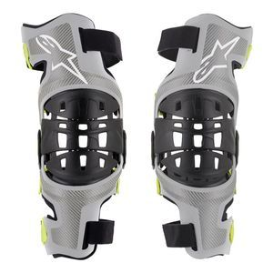 Alpinestars Bionic-7 Silver Yellow Fluo Set