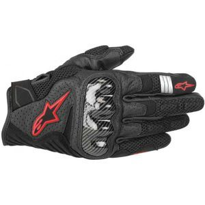 Alpinestars SMX-1 Air V2 Black Red Fluo