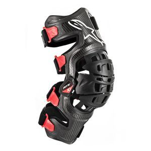 Alpinestars Bionic-10 Black Red Carbon Left