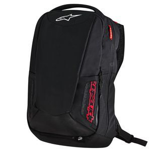 Alpinestars City Hunter Mochila Motorista Negro Rojo