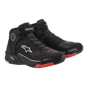 Alpinestars CR-X Drystar Riding Chaussures Moto Noir Camo Rouge