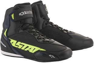 Alpinestars Faster-3 Black Yellow Fluo Blue Motorcycle Shoes