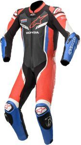 Alpinestars GP Pro V2 1PC Suit Tech-Air Honda Traje Motorista Negro Rojo Azul