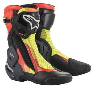 Alpinestars SMX Plus V2 Black Red Fluo Yellow Fluo Gray
