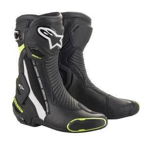 Alpinestars SMX Plus V2 Black White Yellow Fluo