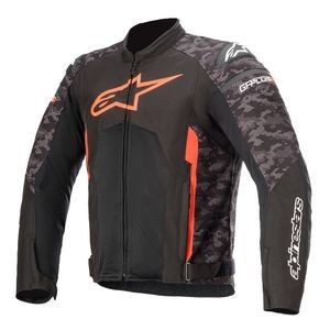 Alpinestars T-GP Plus R V3 Air Black Camo Red Fluo