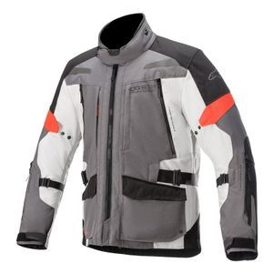 Alpinestars Valparaiso V3 Drystar Dark Gray Light Gray Red