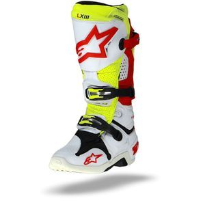 Alpinestars Tech 10 Vented White Red Yellow Fluo