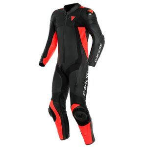 Dainese Assen 2 Perforated Black Black Fluo Red 1 Piece