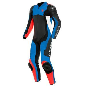 Dainese Assen 2 Perforated Black Light Blue Fluo Red 1 Piece