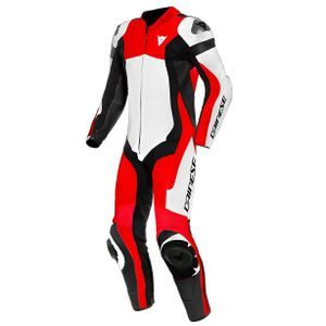 Dainese Assen 2 Perforated White Lava Red Black 1 Piece