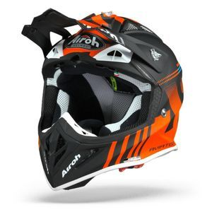 Airoh Aviator ACE Nemesi Casque Motocross Orange Mat