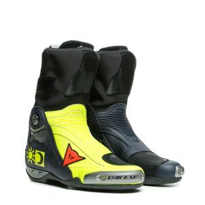 Dainese Axial D1 Replica Valentino Yellow Fluo Blue Motorcycle Boots