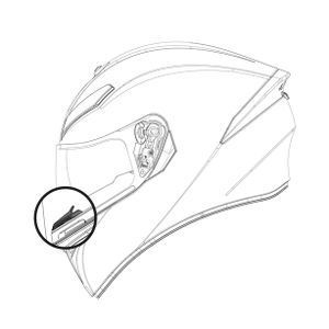 AGV K-3 SV BREATH DEFLECTOR 20KIT03014