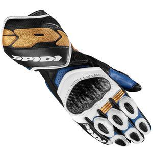 Spidi Carbo 7 Blue Gold Motorcycle Gloves