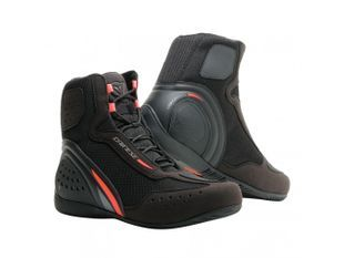 Dainese Motorshoe D1 D-WP Black Fluo Red Anthracite Shoes