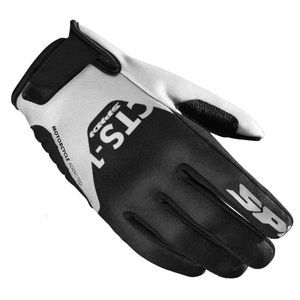 Spidi CTS-1 Black White Motorcycle Gloves