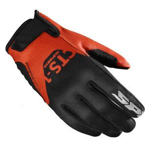 Spidi CTS-1 Black Orange Motorcycle Gloves