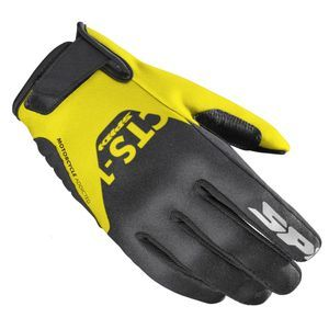 Spidi CTS-1 Black Yellow Fluo Motorcycle Gloves