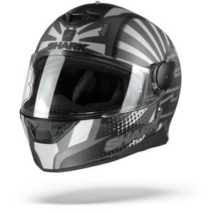 Shark D-Skwal 2 Zarco 2019 Casque Intégral ASA Mat Anthracite Argent Anthracite