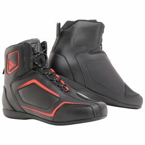 Dainese Raptors Black Black Fluo Red