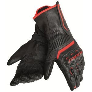 Dainese Assen Guantes Negro Negro Fluo Rojo