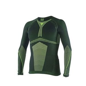 Dainese D-Core Dry Tee LS Black Fluo Yellow