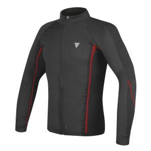 Dainese D-Core No-Wind Thermo Tee LS Black Red
