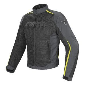 Dainese Hydra Flux D-Dry Black Dark Gull Gray Yellow Fluo
