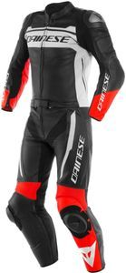 Dainese Mistel Black Matt White Lava Red Leather 2 Piece