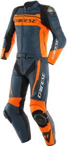 Dainese Mistel Black Iris Black Iris Orange Leather 2 Piece