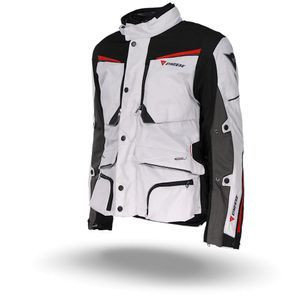 Dainese Sandstorm GoreTex Glacier Gray Black Red