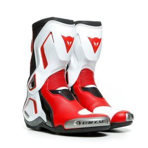 Dainese Torque 3 Out Air Bottes Moto Noir Blanc Rouge Lave