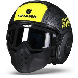 Shark Drak Tribute RM AYK Matt Anthracite Yellow Black