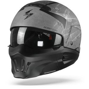 Scorpion EXO-Combat Evo Incursion Casco Modular Gris Mate Negro