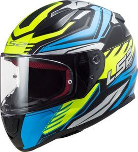 LS2 FF353 Rapid Gale Matt Black Blue Yellow