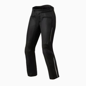 REV'IT! AIRWAVE 3 LADY SHORT BLACK MOTORCYCLE PANTS