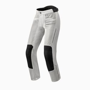 REV'IT! AIRWAVE 3 LADY SHORT SILVER MOTORCYCLE PANTS