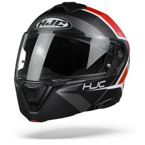 HJC I90 Hollen MC1SF Casque Modulable Noir Rouge