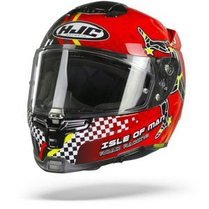 HJC RPHA 70 Isle Of Man Casque Intégral Rouge Blanc Or