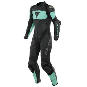 Dainese Imatra Lady Perforated Black Acqua Green1 Piece