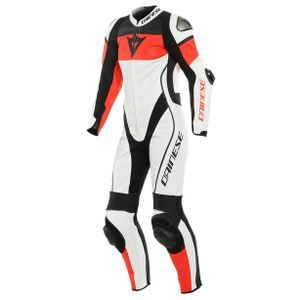 Dainese Imatra Lady Perforated White Fluo Red Black1 Piece
