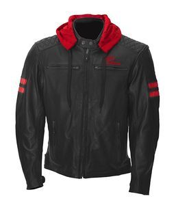 Rusty Stitches Jari Hooded Black Black Red