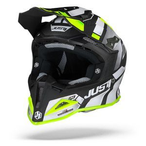 Just1 J12 Pro Vector Blanc Jaune Fluo Carbone