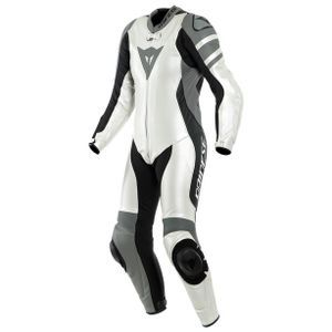 Dainese Killalane Perforated Lady Pearl White Charcoal Gray Black 1 Piece