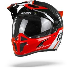 Klim Krios Twotrack Casque Adventure Rouge Rock