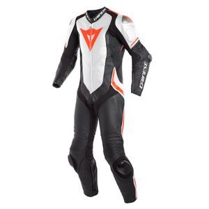 Dainese Laguna Seca 4 Perf. Black White Fluo Red 1 Piece